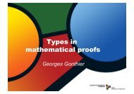 Types in mathematical proofs