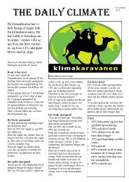 The Daily Climate - Klimakaravanen