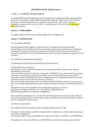 Article 1 – LA SOCIÉTÉ ORGANISATRICE