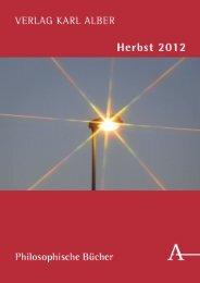 VERLAG KARL ALBER Herbst 2012 Philosophische ... - Verlag Herder