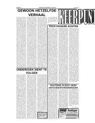 GEWOON HETZELFDE VERHAAL - De West