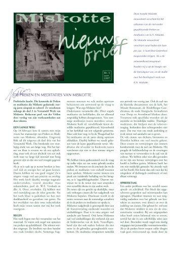 nieuwsbrief 2 - 1997 - Miskotte-stichting