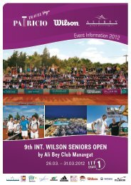 9th INT. WILSON SENIORS OPEN - 2012 - Patricio Sport Events
