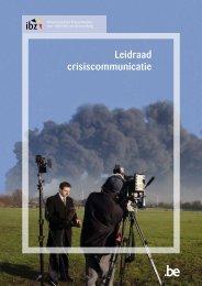 leidraad crisiscommunicatie (PDF, 1MB) - Federale Overheidsdienst ...