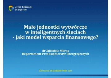 dr Zdzisław Muras, Departament Przedsiębiorstw Energetycznych
