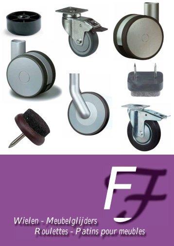 Wielen - Meubelglijders Roulettes - Patins pour meubles