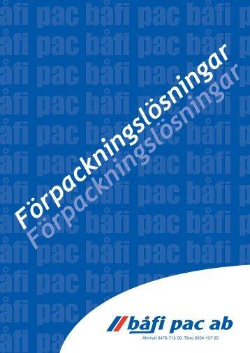 Se hela vårt sortiment i produktkatalogen - Båfi Pac AB