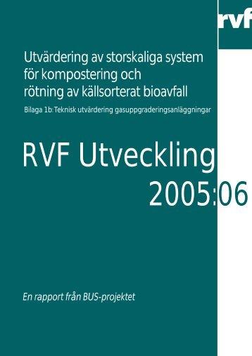 Teknisk utvärdering gasuppgraderingsanläggningar - Avfall Sverige