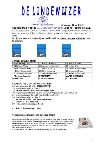 Lindewijzer-22 april 2009.pdf - Basisschool De Nieuwe Linde