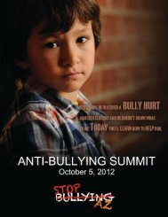 View the Summit Introduction... - Stop Bullying AZ