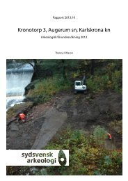 Kronotorp 3, Augerum sn, Karlskrona kn. Arkeologisk ...