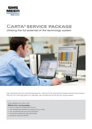 Carta® SErVICE PaCKaGE - SMS Meer GmbH