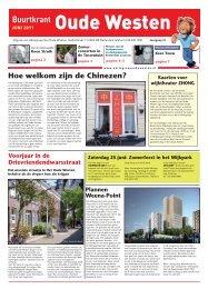 Buurtkrant Oude Westen, juni 2011 - Aktiegroep Het Oude Westen ...
