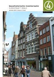 Bouwhistorisch rapport Vleesstraat - Gemeente Venlo