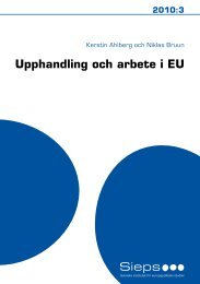 Upphandling och arbete i EU (2010:3) (948.67 kB) - Sieps