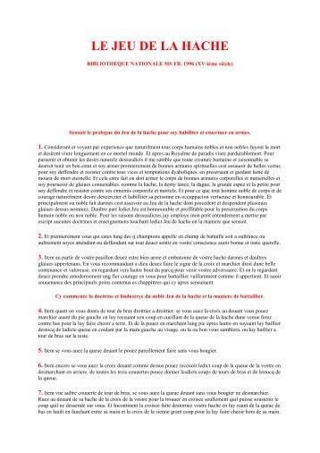 le jeu de la hache pdf