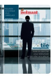 Isoler le plancher pour restructurer le bien-être acoustique - Isolmant