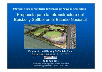 ¡Atención! - Página de la federación de béisbol de Chile