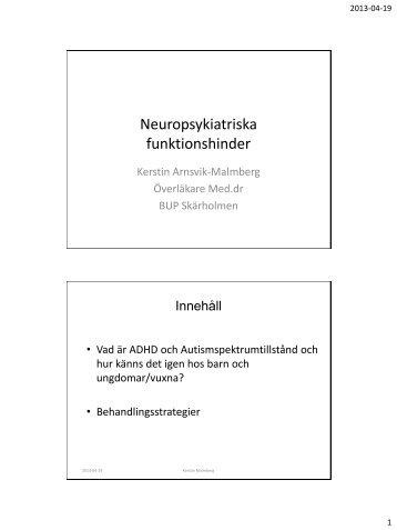 Med1 Malmberg -Neuropsykiatriska funktionshinder - Obesitasdagar