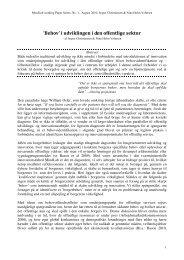 'Behov' i udviklingen i den offentlige sektor - MindLab