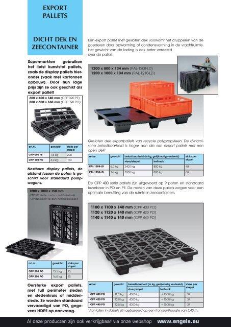 Export pallets - Engels Logistics