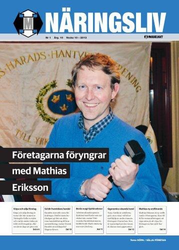 Företagarna föryngrar med Mathias Eriksson - Markbladet