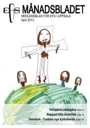 MEDLEMSBLAD FÖR EFS I UPPSALA April 2013 ... - Lötenkyrkan