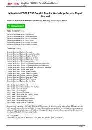 mitsubishi fd80 fd90 forklift trucks workshop service repair manual