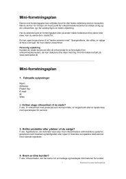 Mini-forretningsplan Mini-forretningsplan - Horsens Erhvervsråd