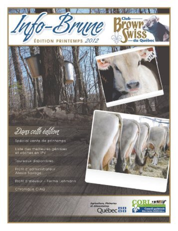 Info-Brune mars 2012-v2 - Club Brown Swiss du Québec