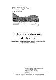 Lärares tankar om skolledare - Karlstads universitet