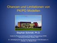 Chancen und Limitationen von PK/PD Modellen - PEG-Symposien