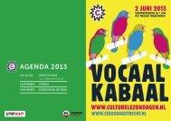 Download het programmaboekje - Culturele Zondagen