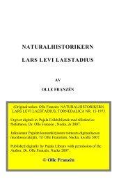 Naturalhistorikern Lars Levi Laestadius 1973 - laestadiusarkivet