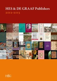 Download our current catalog - HES & DE GRAAF Publishers