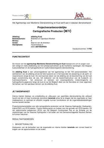 Projectverantwoordelijke Cartografische Producten (M/V) - Jobpunt ...