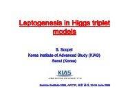 Leptogenesis Leptogenesis in Higgs triplet models - apctp
