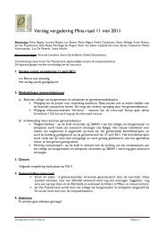Verslag vergadering Mina-raad 11 mei 2011 - Gemeente Bonheiden