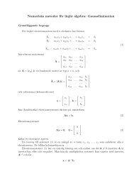 Numeriska metoder för linjär algebra: Gausselimination