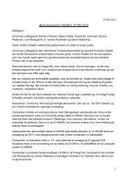 Referat fra bestyrelsesmøde 07 MAJ