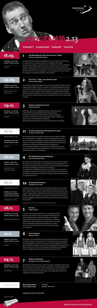 Kulturkalender II/2013 - Stadt Eislingen/Fils