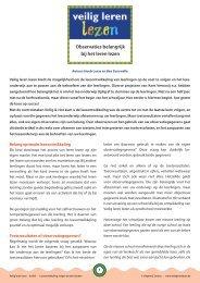 Observaties belangrijk bij het leren lezen - Veilig leren lezen