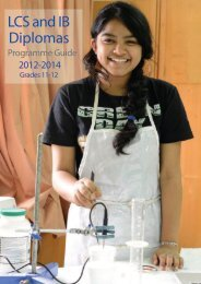 Diploma Programme Guide - Lincoln Community School