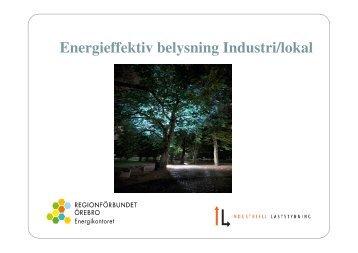 Peter Karlssons presentation om belysning