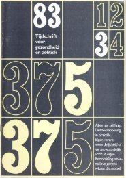 Tijdschrift Gezondheid en Politiek jaargang 1983 nr 3