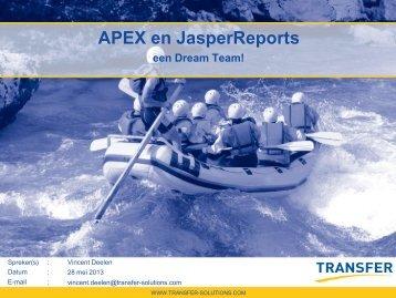 APEX en JasperReports - een Dream Team