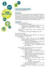 VACATURE JOBSTUDENT - FOS Open Scouting