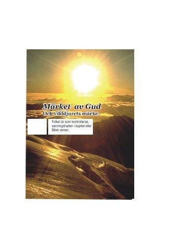 Livro a marca de Deus em Sueco - Livro A marca de Deus ea marca ...