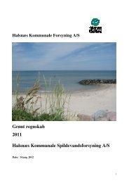 det grønne regnskab 2011 - Halsnæs forsyning