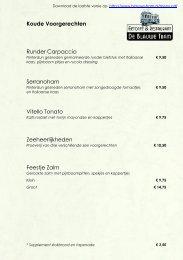 menu - De Blauwe Tram